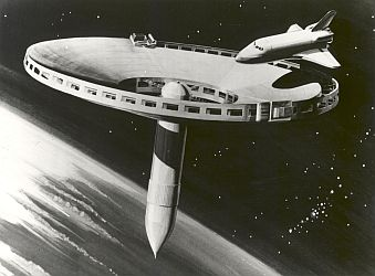 1977 concept drawing for a space station