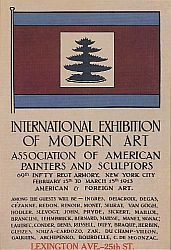 Poster for the Armory Show exhibition, 1913.