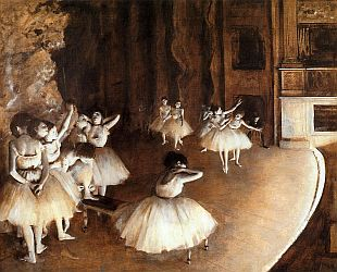 'Ballet Rehearsal on Stage' by Edgar Degas