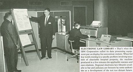 Computer Assisted Legal Research in 1960