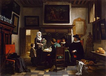 'Distribution of Charity in the Alms-House' by Hubertus van Hove.