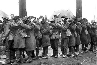 First World War. Soldiers blinded by gas.