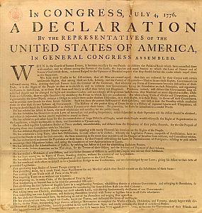 George Washington's personal copy of Declaration of Independence