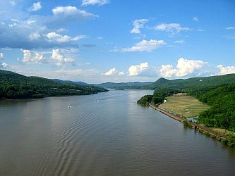 The Hudson River viewed from the Bear Mountain Bridge.