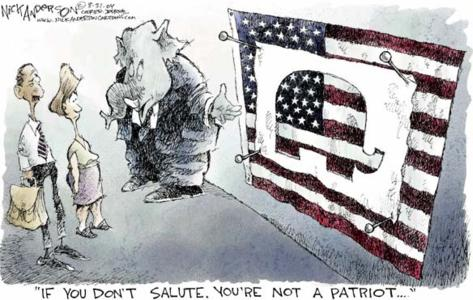 If You Don't Salute, You're Not a Patriot by Nick Anderson