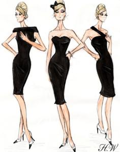 Illustration, 'Little Black Dress,' Hayden Williams, 2010