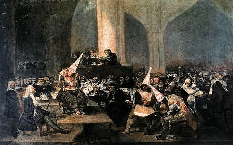 Inquisition Scene by Francisco Goya (1819)