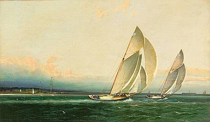 James Edward Buttersworth: Yachts Racing in the Upper Bay, 1860.