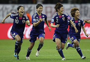 Japan celebrates defeat of USA in Women's World Cup