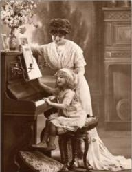 Music Teacher and Child