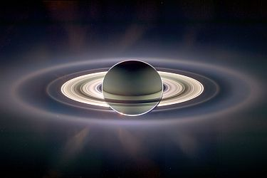 'In the Shadow of Saturn.' Image Credit: Cassini Imaging Team, ISS, JPL, ESA, NASA.