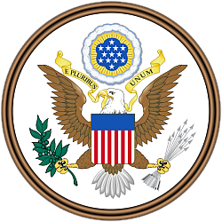 Obverse side of the Great Seal of the United States.