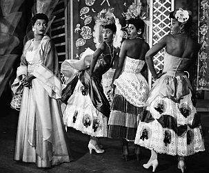Pearl Bailey as Madame Fleur in Broadway musical 'House of Flowers.'