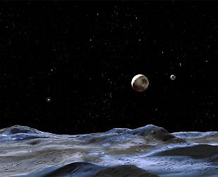 Pluto and 5th moon.