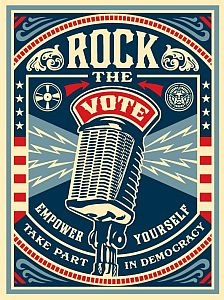 'Rock the Vote' vintage style.