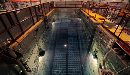 Spent fuel storage pools at Shearon Harris nuclear plant.