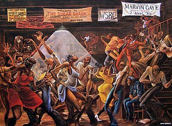 'Sugar Shack' by Ernie Barnes