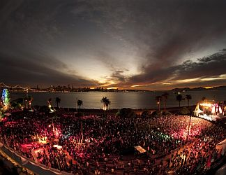 Treasure Island Music Festival by night.
