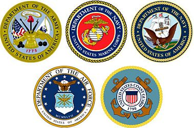 United States military emblems.