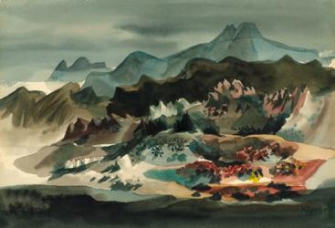 Untitled (California Landscape) by Dong Kingman