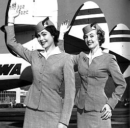 Vintage stewardesses photo.