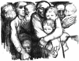 'Widows and Orphans' by Kathe Kollwitz (1919)
