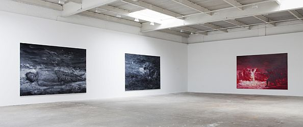 Yan Pei-Ming 'Black Paintings' at David Zwirner gallery